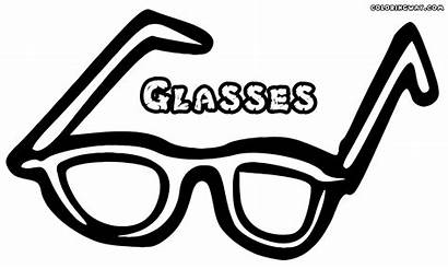 Glasses Coloring Pages