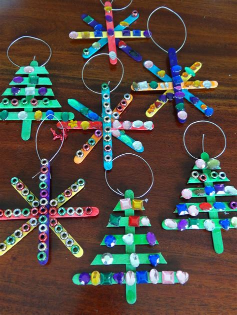 homemade christmas tree decorations paddle pop stick