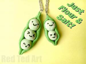 Peas in a Pod Pendants made from this easy salt dough
