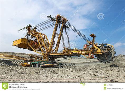 heavy coal excavator  coal  stock photo image