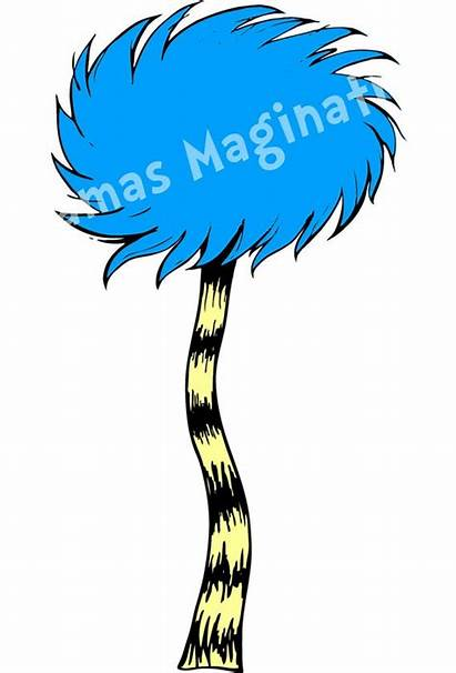 Lorax Seuss Truffula Dr Trees Clip Clipart