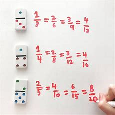 Equivalent Fractions Don't Have Fraction Cards? Dominoes Make A Great Substitute This Noprep
