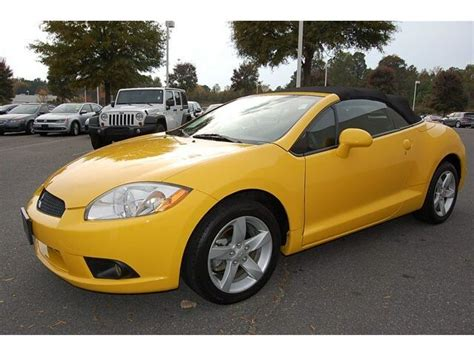Mitsubishi Eclipse Convertible For Sale by 85k Yellow Black Spyder Gs Convertible Used