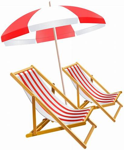 Umbrella Clipart Chairs Clip Vacation Tubes Transparent