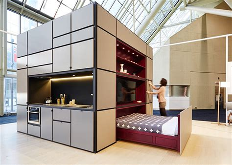 interior home design for small spaces cubitat sleek and play unit shelters a kitchen