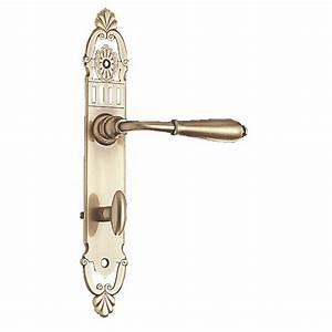 poignees de porte sur plaques laiton patine mansart With poignees de porte anciennes laiton