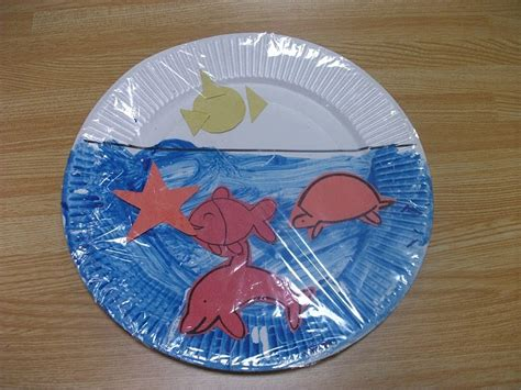 preschool crafts for easy sea paper plate craft 395 | 037