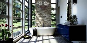 bathtubs with a view of nature With deco salle de bain nature