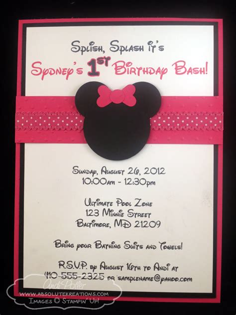 birthday party ideas and tips guest post mimi 39 s minnie mouse birthday invitations ideas bagvania free