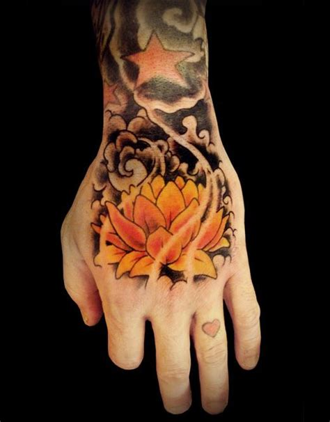 lotus flower hand tattoo design cool tattoos continues