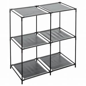 Etagere Cube Noir : tag re cube 4 casiers mix n 39 module noir ~ Teatrodelosmanantiales.com Idées de Décoration