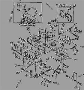 Loader Frame And Floor Plate -  U63a8 U571f U673a Komatsu D31p-18