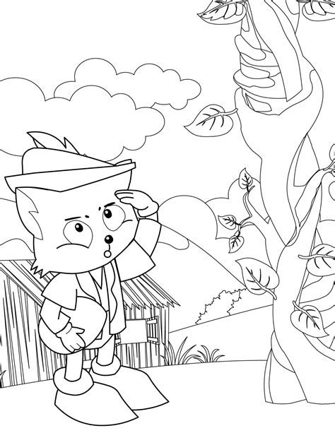 Beanstalk Free Colouring Pages
