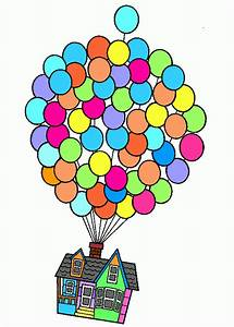 Free coloring pages of up house