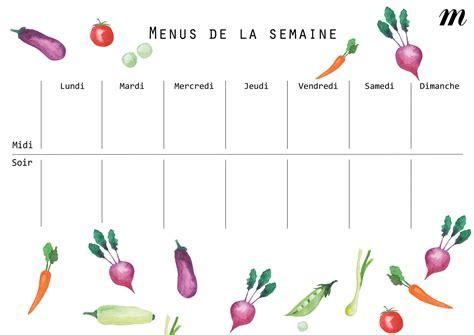 La cuisine de myrtille planifier ses menus plannings vierges a telecharger from. Planning Vierge Menu Semaine - Gamboahinestrosa