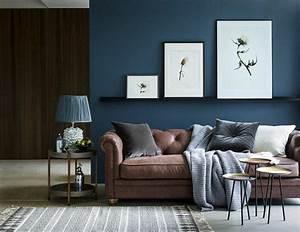 Grau Blaue Wand : 1001 wohnzimmer deko ideen tolle gestaltungstipps ~ Watch28wear.com Haus und Dekorationen