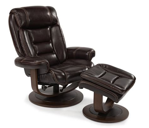 Flexsteel Leather Chair And Ottoman by Flexsteel Latitudes 1455 Co Modern Zero Gravity
