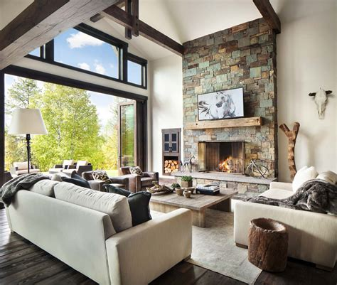 interior design homes photos rustic modern dwelling nestled in the northern rocky mountains