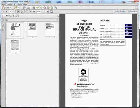Mitsubishi Eclipse Service Manual by Mitsubishi Eclipse 2006 Service Manual