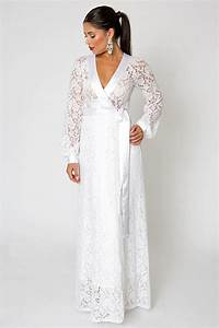 white ivory simple lace wedding gown wrap dress open With simple non traditional wedding dresses