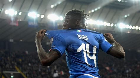 football news moise kean scores debut italy overcome finland