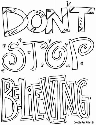 Coloring Pages Attitude Stop Doodles Religious Believing