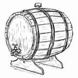 Barrel Wine Clipart Sketch Wooden Vector Barrels Illustration Clip Faucet Man Drawing Cartoon Graphicriver Beer Brewers Keg Shutterstock Outline Cask sketch template