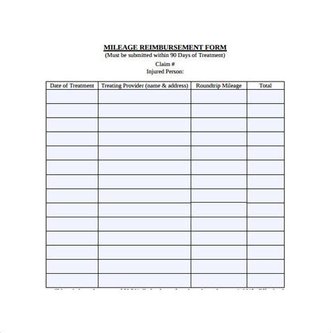 mileage reimbursement template shatterlion info