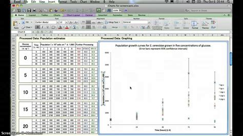 Bio Exle by Ib Bio Excel Graphing