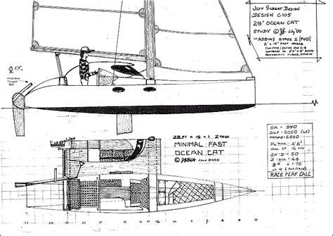 Catamaran Hull Structure by Jeff Gilbert Design 28ft Offshore Catamaran Http
