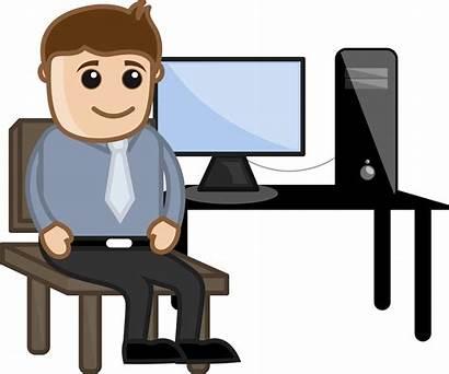 Teacher Computer Desk Sitting Ask Internship Advice