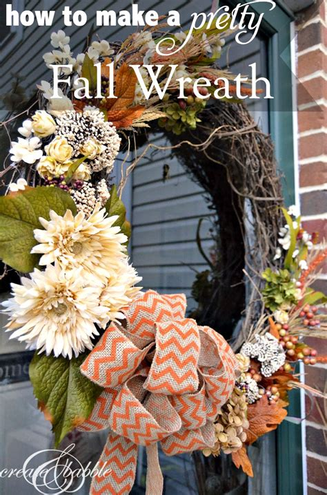 How To Make A Fall Wreath  Create And Babble