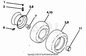 Poulan Pp14542kb Tractor Parts Diagram For Wheels  U0026 Tires