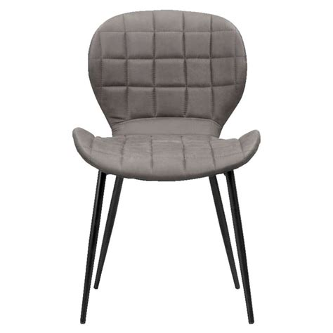 chaise grise tissu chaise joshua tissu grise leen bakker