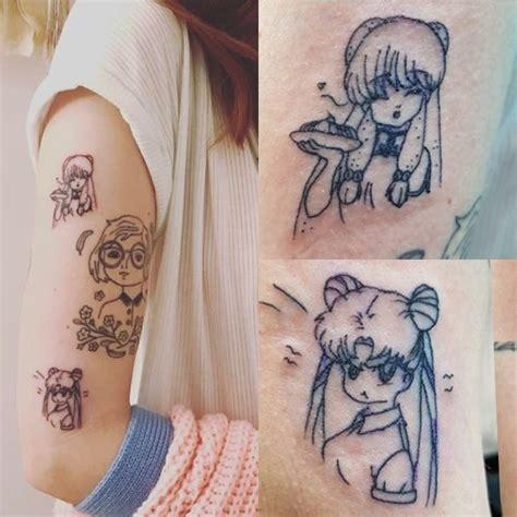 marzia bisognin character sailor moon upper arm tattoo