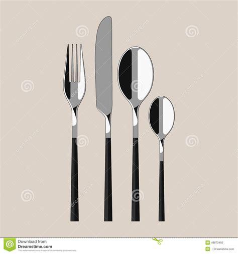 modern kitchen knives modern cutlery stock vector illustration of beautiful