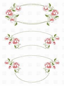 Floral vintage-style wedding frames Royalty Free Vector ...
