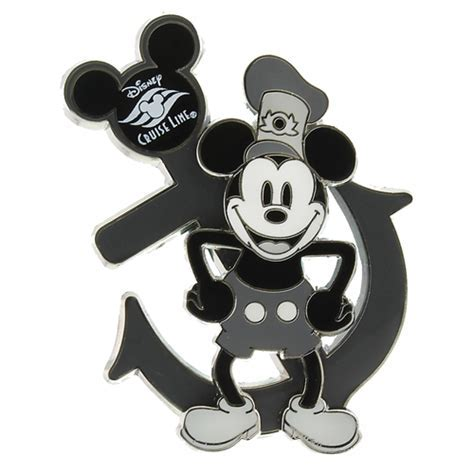 Disney Cruise Line Pin   Steamboat Willie and Anchor