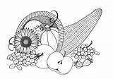 Coloring Cornucopia Adult Pages Plentiful Printable Thanksgiving Colouring Books Favecrafts Print Pdf Drawing sketch template