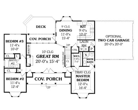ranch house plan   bedrooms   baths plan