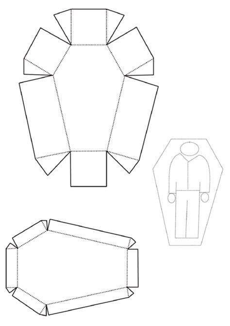 coffin box template printable