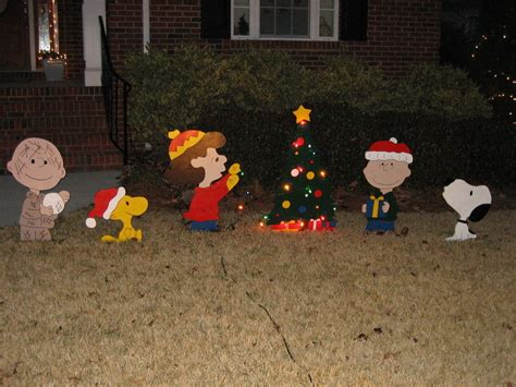 peanuts christmas yard art patterns plans diy