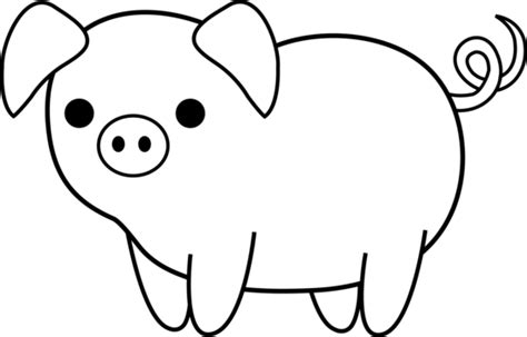 childrens piggy beautiful adorable simple pig drawing simple a 26072