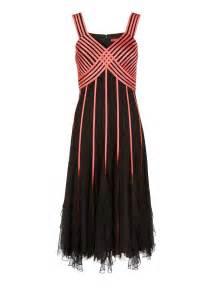 jacques vert flamingo ribbon dress  black lyst