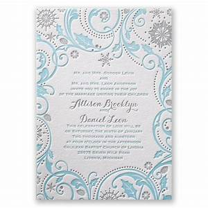 winter whimsy letterpress invitation invitations by dawn With letterpress snowflake wedding invitations