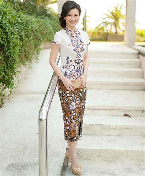 dress berkerah lengan pendek model kebaya lengan pendek rok panjang