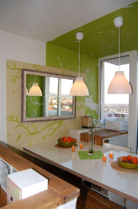 chambre gris et vert cuisine photo 3 4 vert pomme taupe et blanc cassé