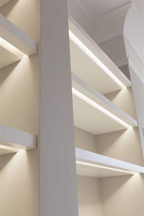 Shelf Lighting by Shelves Lit With Recessed Lights Note The Bevel To Allow