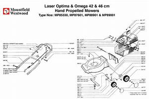 Mp85330 Mp87601 Mp88901 Mp89001 Mountfield Laser Optima And Omega 42cm And 46cm Hand Propelled