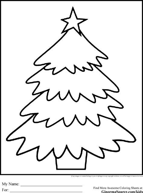 printable christmas tree for kids tree with presents coloring page coloring home